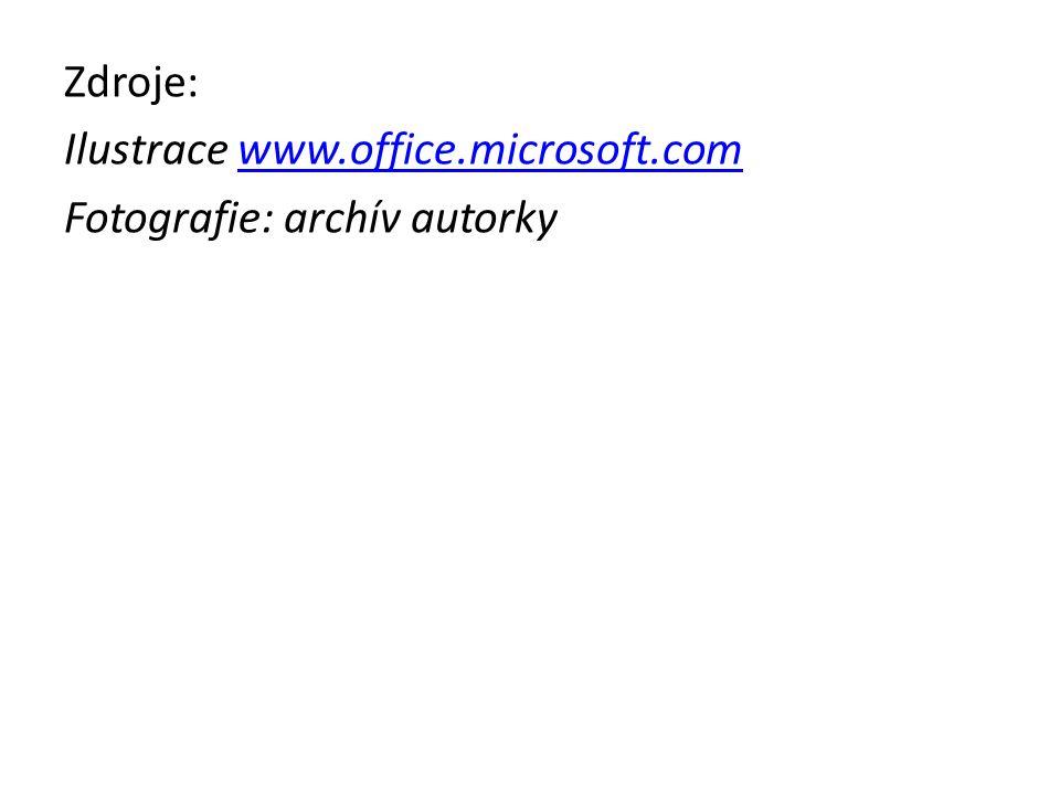 Zdroje: Ilustrace www.office.microsoft.comwww.office.microsoft.com Fotografie: archív autorky
