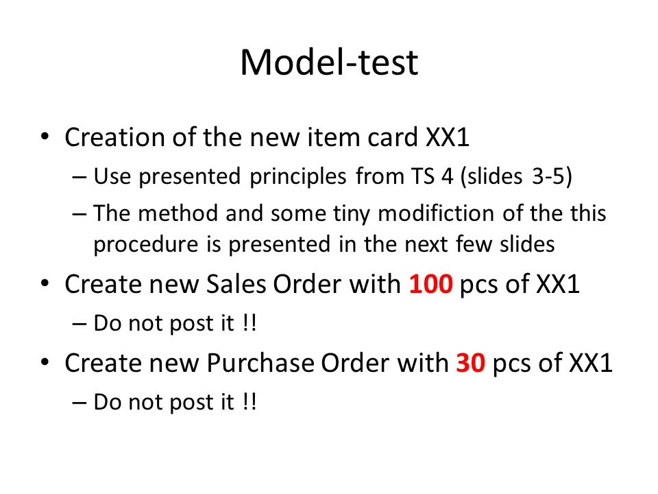 How to create a new Item card Open chosen card (e.g.