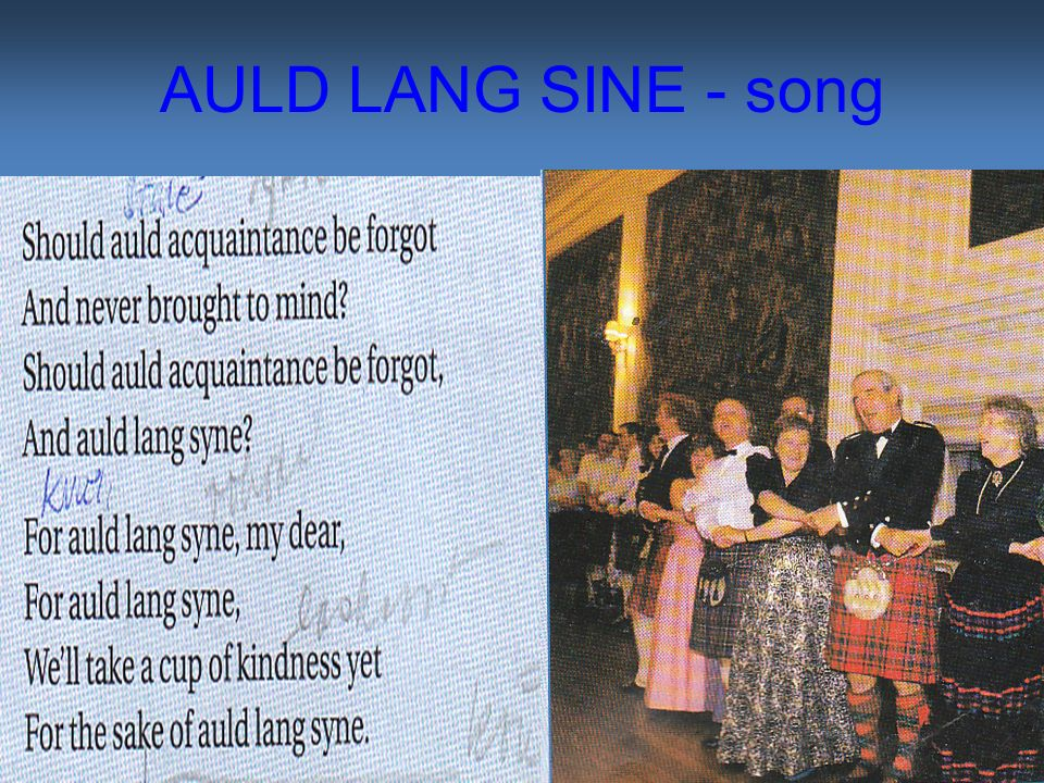 AULD LANG SINE - song