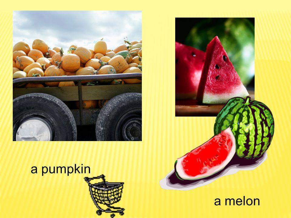 a pumpkin a melon