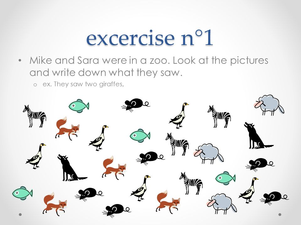 exercise n°2 Find the mistakes and correct them.