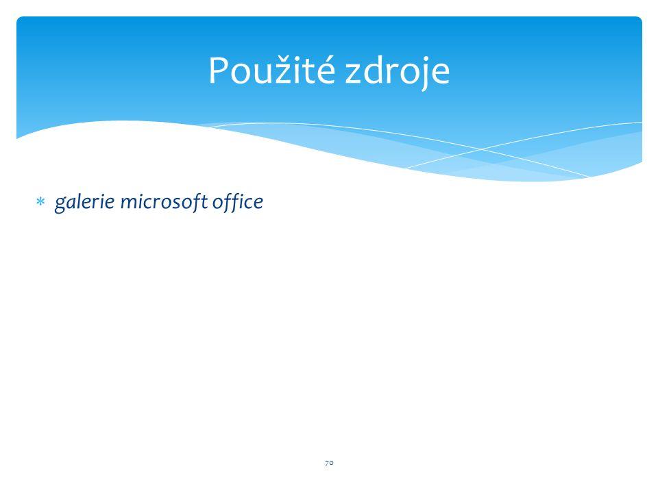  galerie microsoft office 70 Použité zdroje