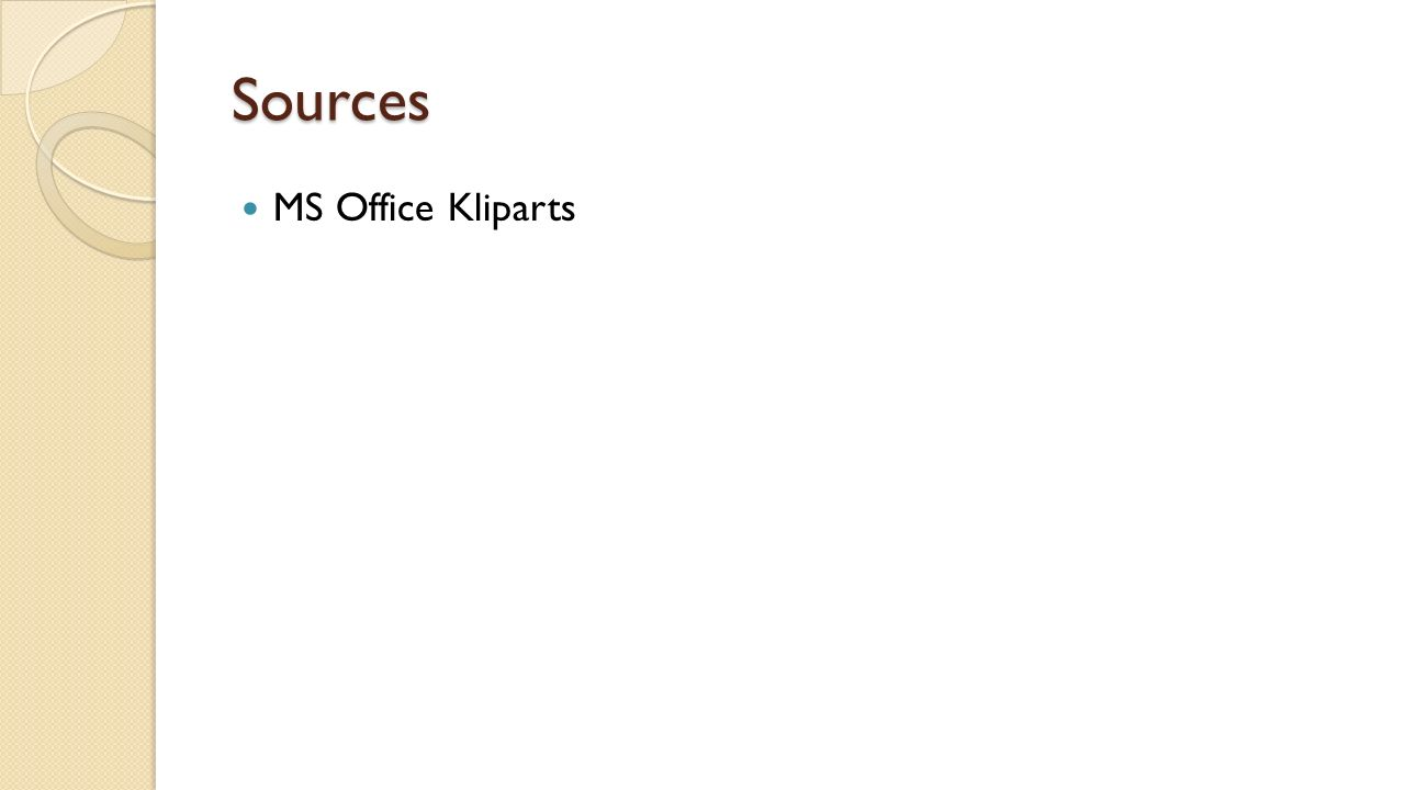 Sources MS Office Kliparts