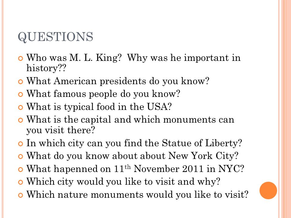 QUESTIONS Who was M. L. King. Why was he important in history .