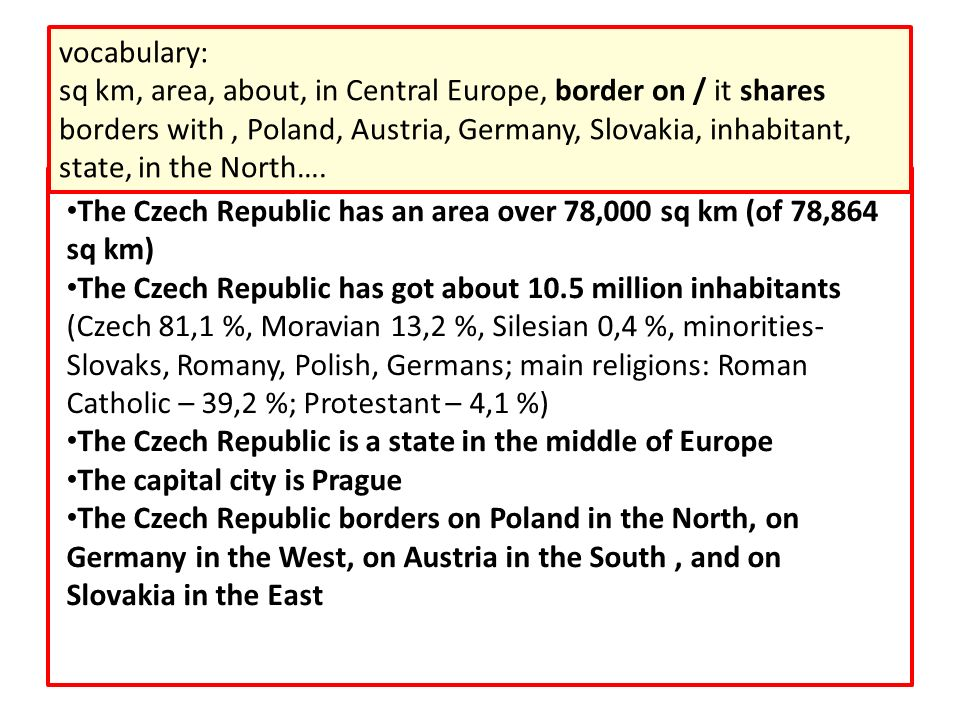What information about the Czech Republic can you get from this picture.