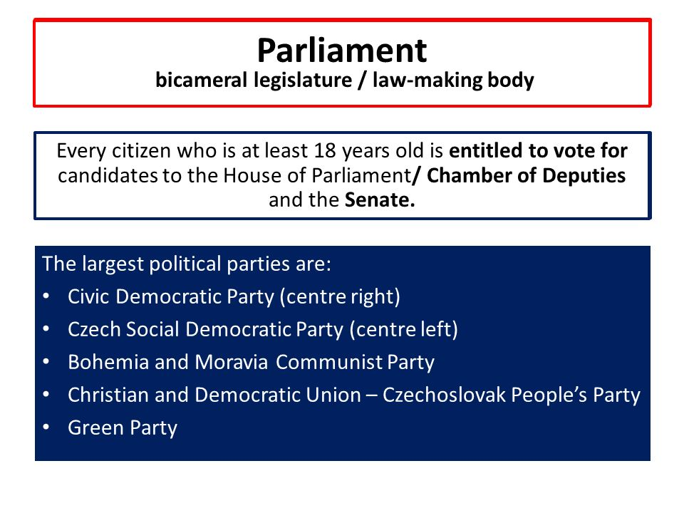 Parliament bicameral legislature, law-making body.....