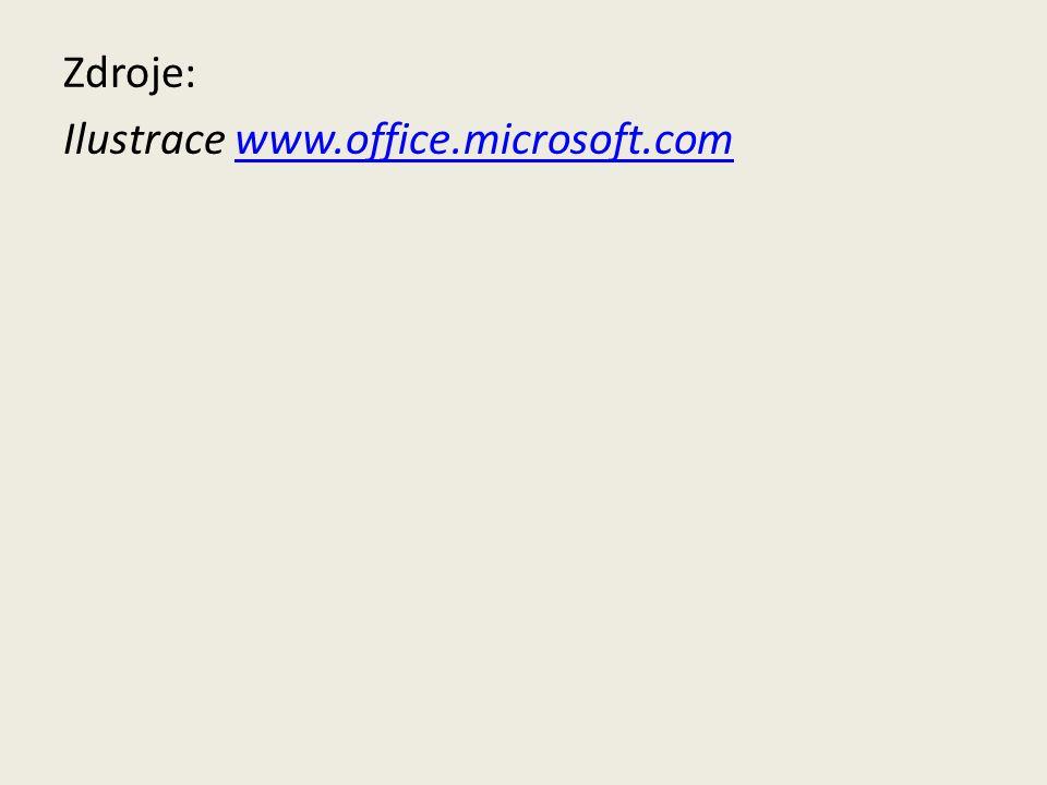 Zdroje: Ilustrace www.office.microsoft.comwww.office.microsoft.com