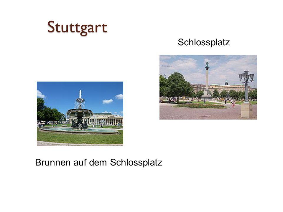 Stuttgart Schlossplatz Brunnen auf dem Schlossplatz