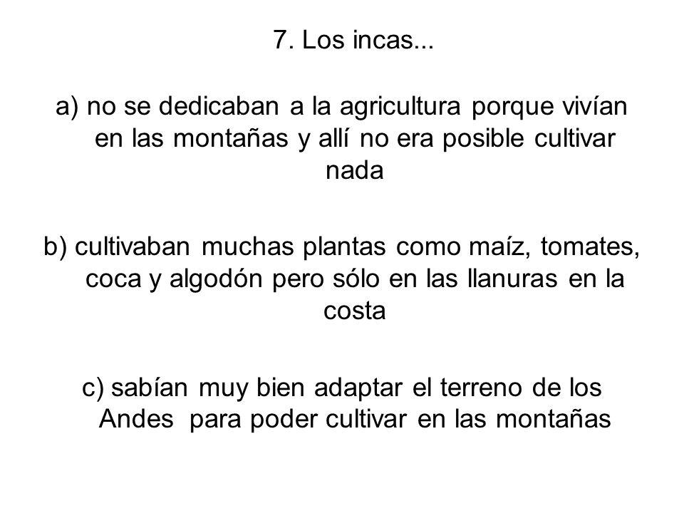 7. Los incas...