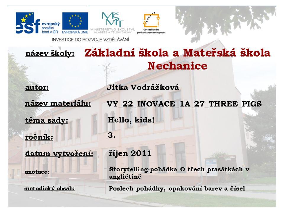 Jitka Vodrážková Hello, kids. 3.