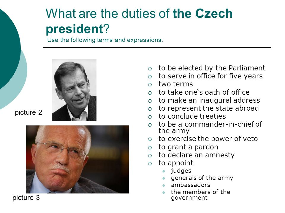 What are the duties of the Czech president.