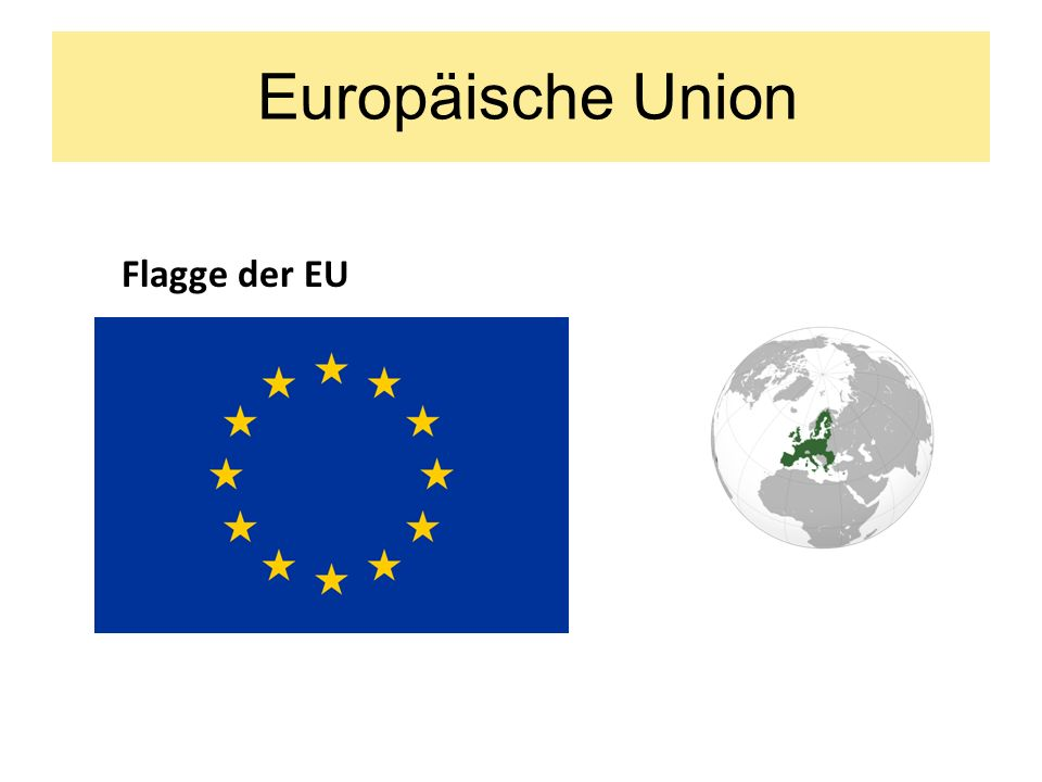 Europäische Union Flagge der EU