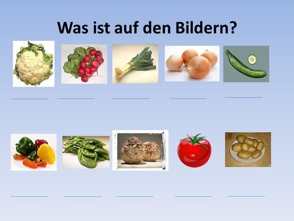 Lösung (řešení) KnoblauchRadieschen Porre Zwiebel Gurke PaprikaSpinat Sellerie Tomate Kartoffel