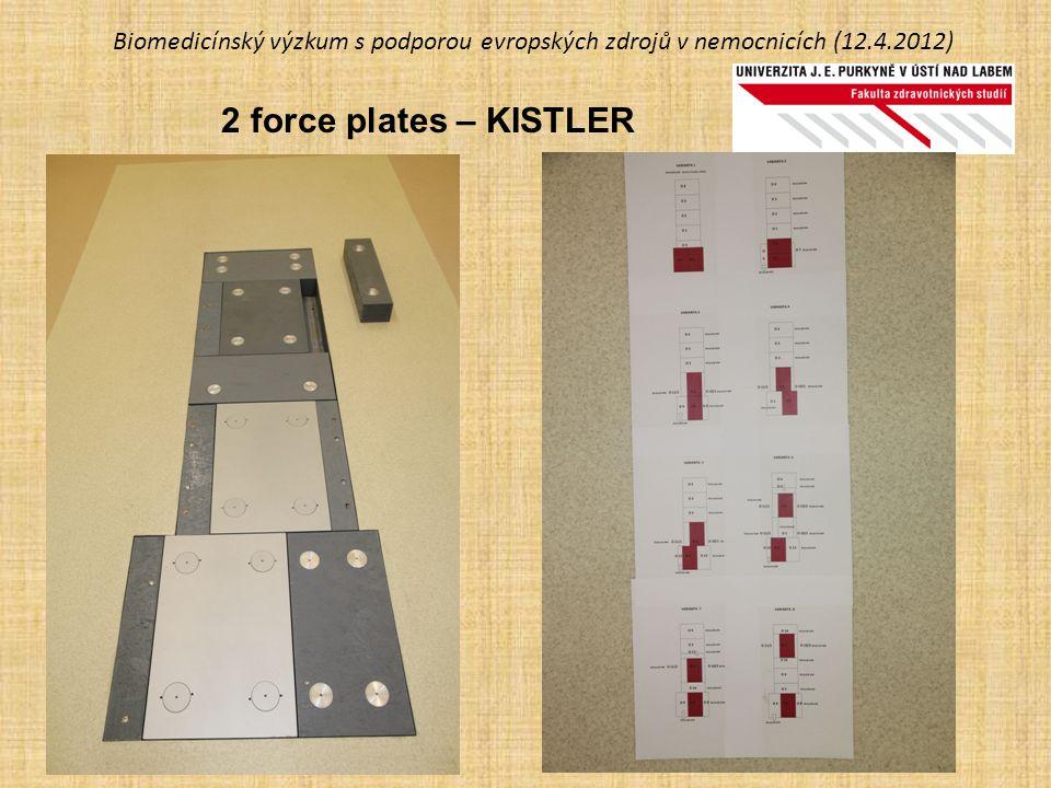 Biomedicínský výzkum s podporou evropských zdrojů v nemocnicích (12.4.2012) 2 force plates – KISTLER