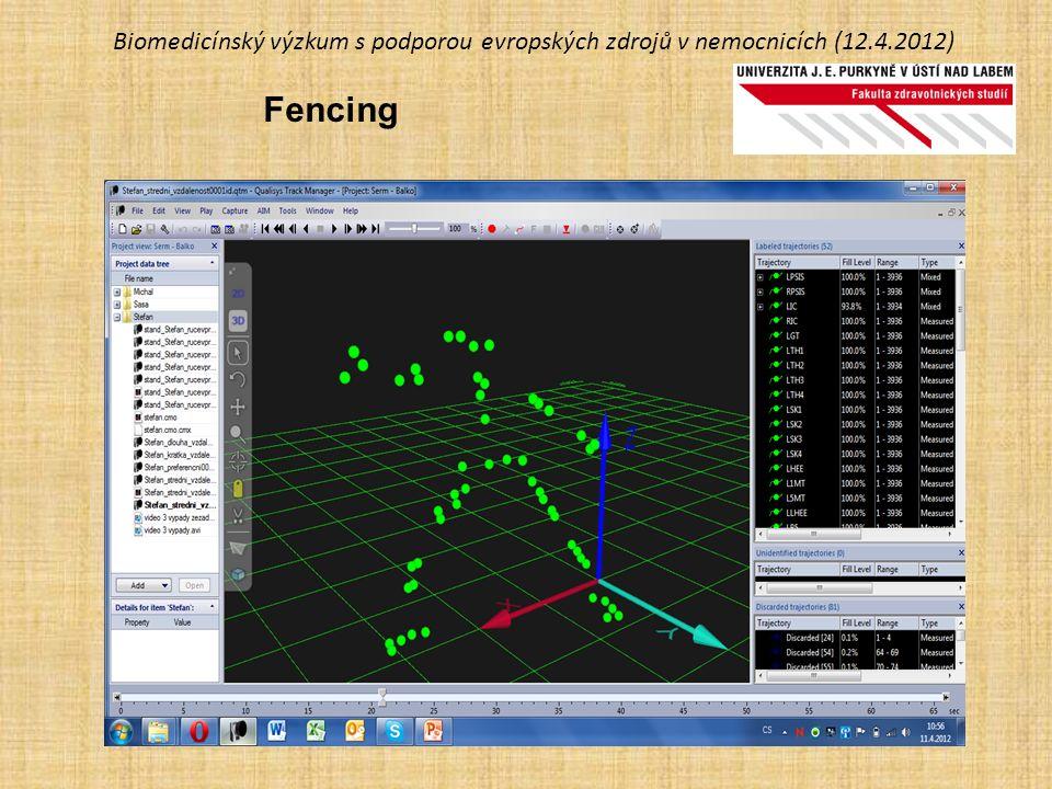 Biomedicínský výzkum s podporou evropských zdrojů v nemocnicích (12.4.2012) Fencing