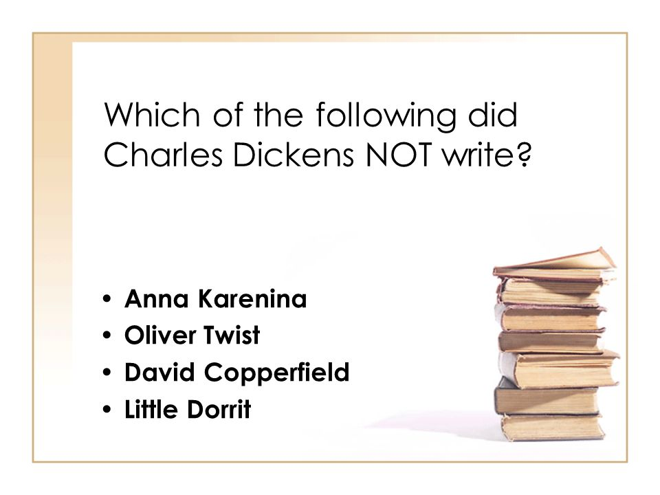 Which of the following did Charles Dickens NOT write.