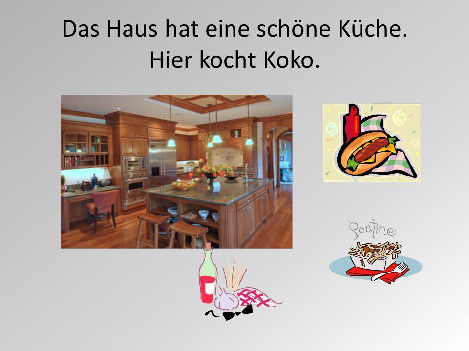 Das Haus hat eine schöne Küche. Hier kocht Koko.