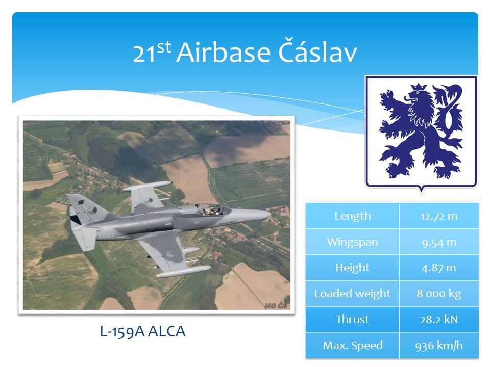 21 st Airbase Čáslav L-159A ALCA