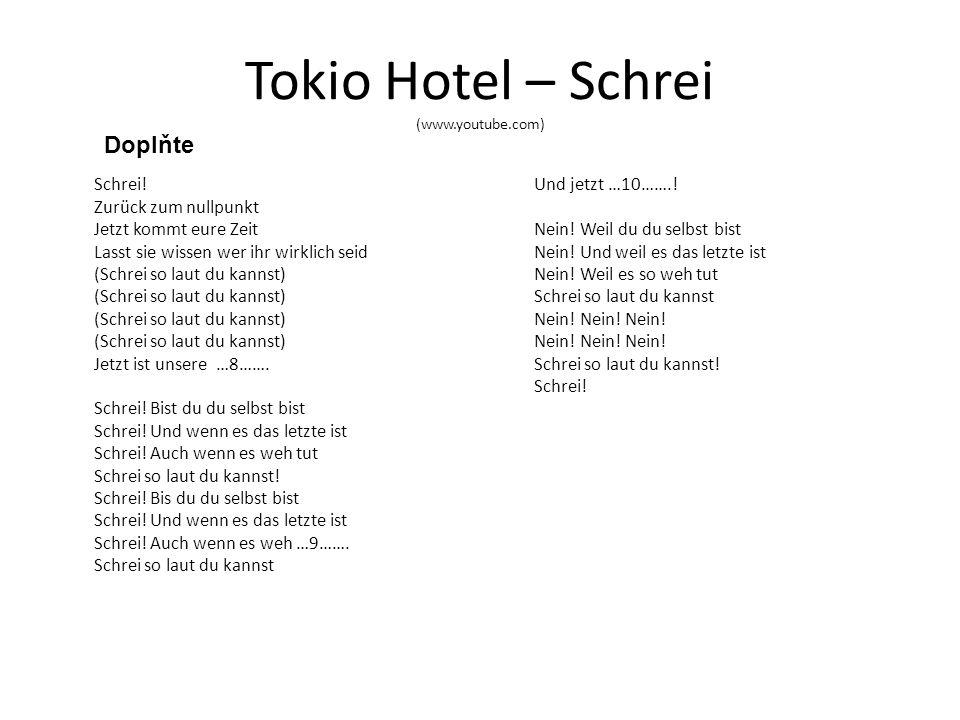 Tokio Hotel – Schrei (www.youtube.com) Schrei.
