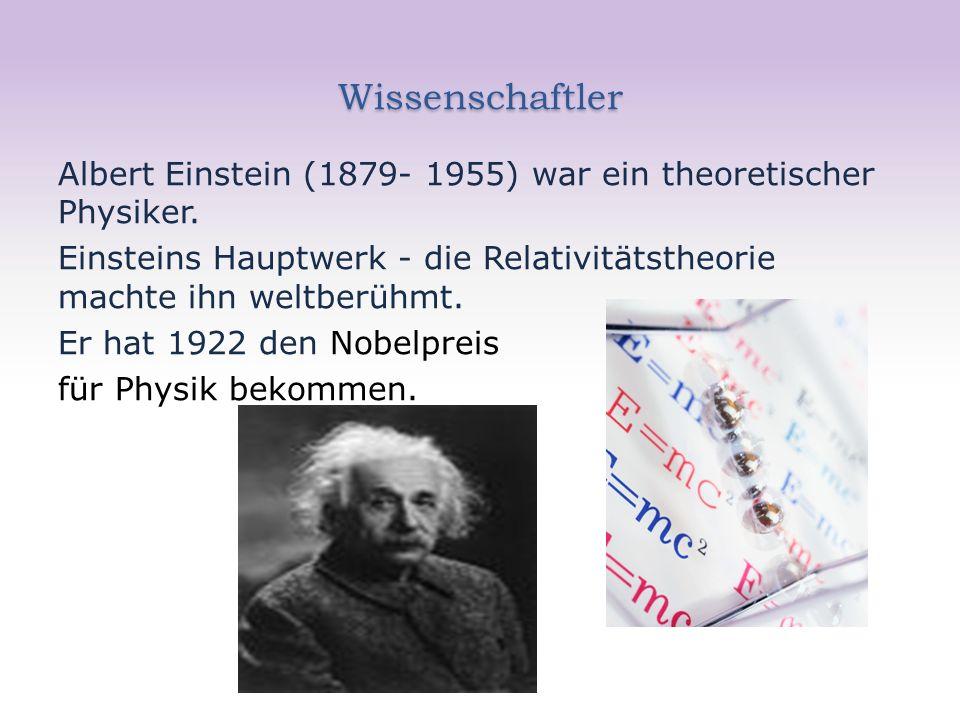Wissenschaftler Albert Einstein (1879- 1955) war ein theoretischer Physiker.
