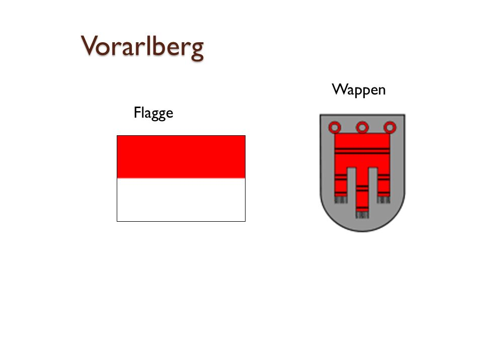 Vorarlberg Wappen Flagge