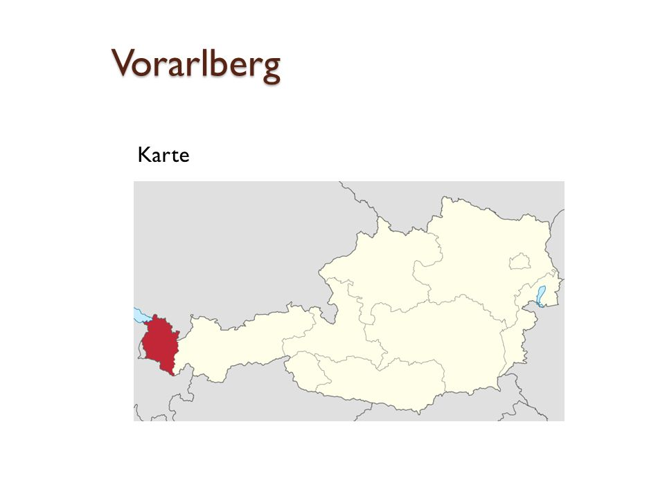 Vorarlberg Karte