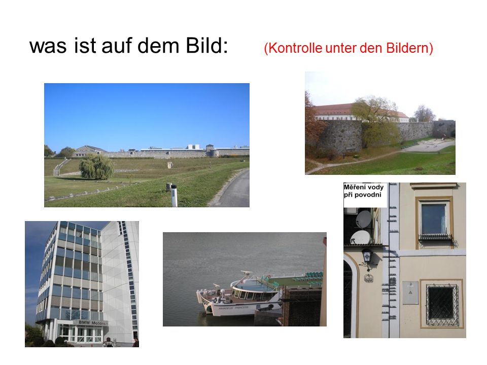 was ist auf dem Bild: (Kontrolle unter den Bildern) Konzentrationslager Mauthausen Hochwasser - Messer der Schloss in Linz BMW-Steyr Donau -Hafen