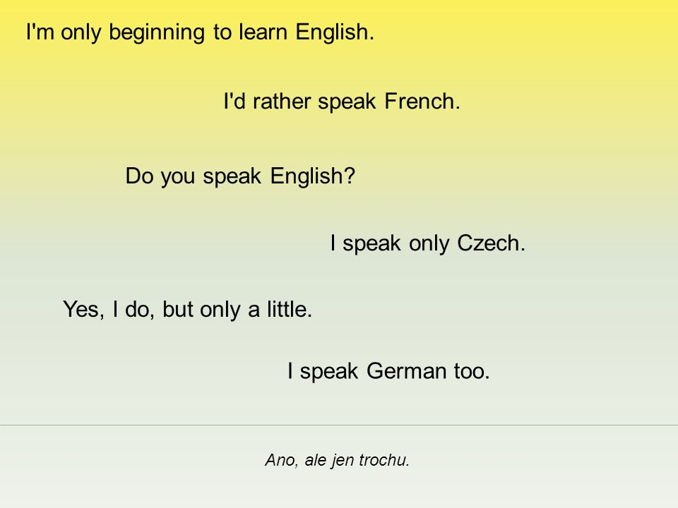 How do you say it in English.Jak, prosím. I didn t catch your name.