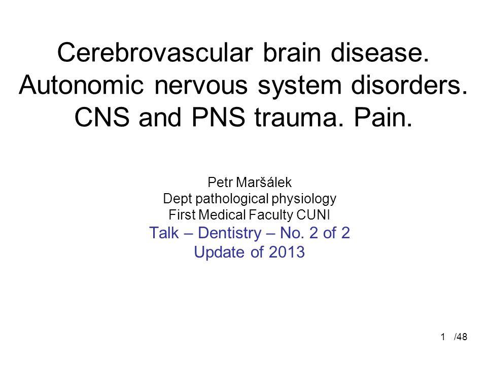 /481 Cerebrovascular brain disease.Autonomic nervous system disorders.
