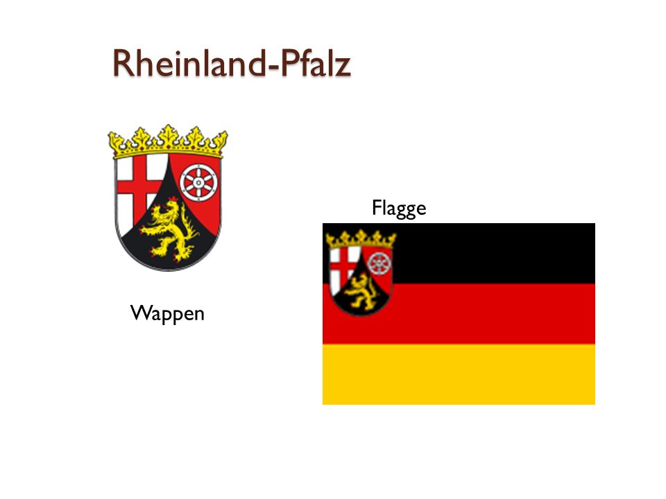 Rheinland-Pfalz  Flagge Wappen