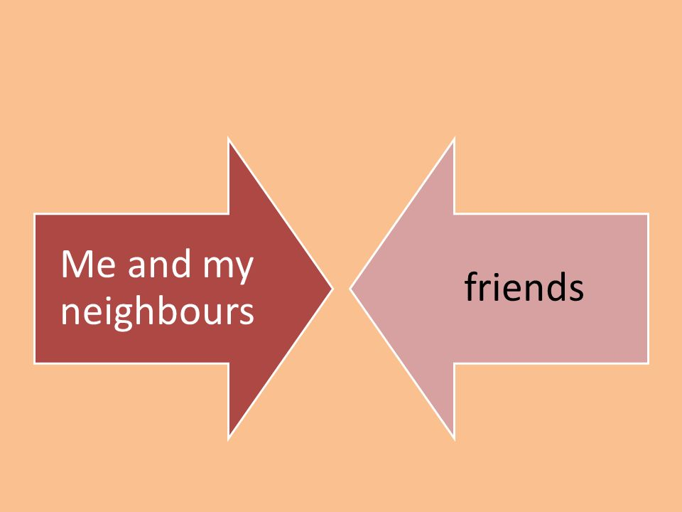 Me and my neighbours friends