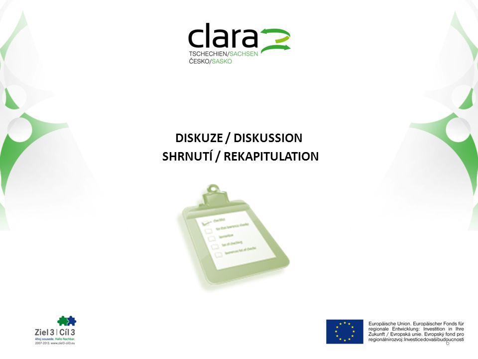 DISKUZE / DISKUSSION SHRNUTÍ / REKAPITULATION 6