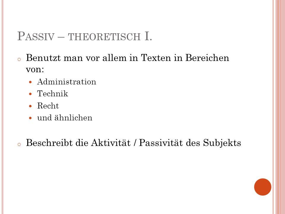 P ASSIV Theoretische Einführung