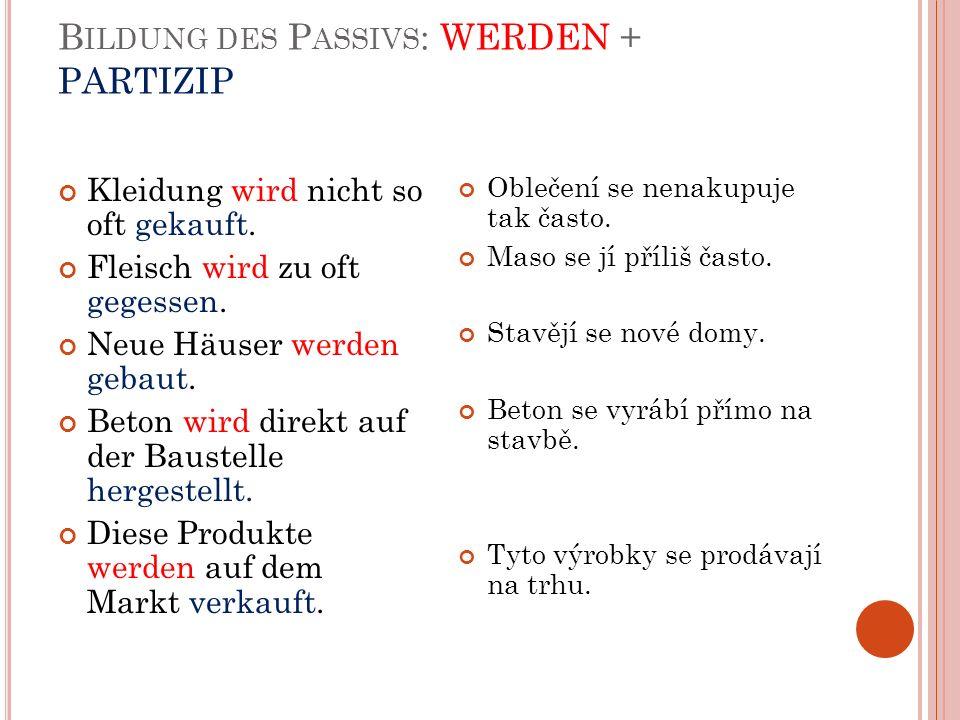 P ASSIV – THEORETISCH II.