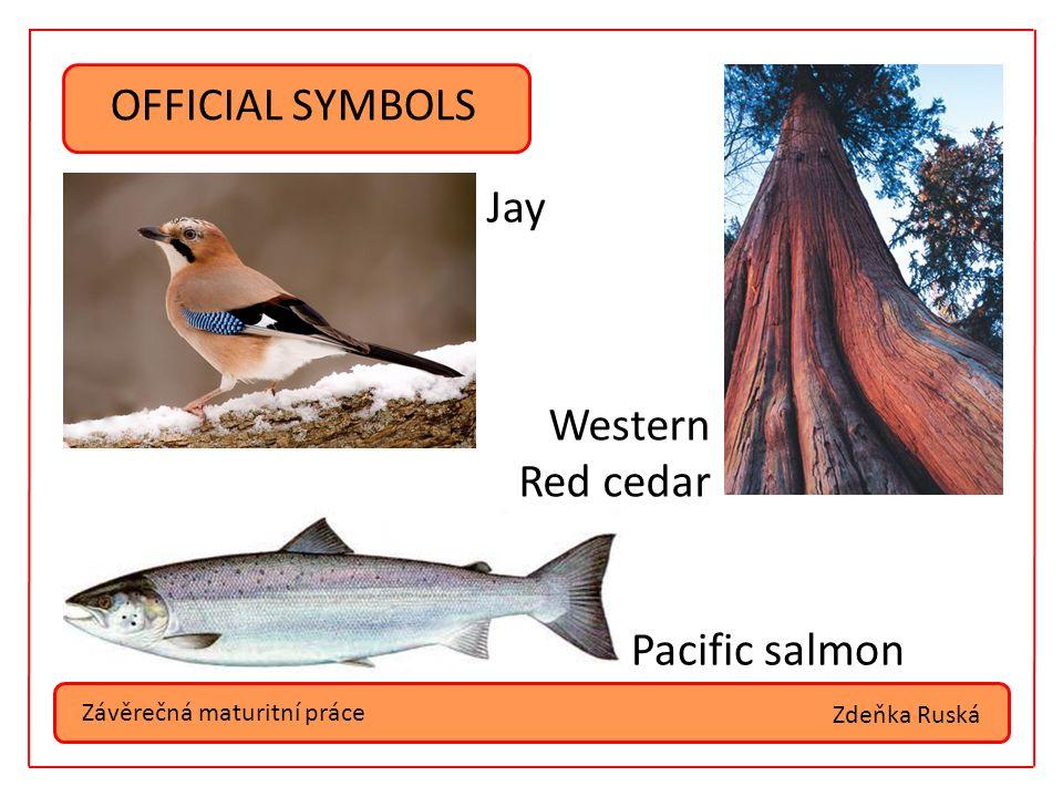 Závěrečná maturitní práce OFFICIAL SYMBOLS Spirit of Kermode bear Pacific dogwood Jade Zdeňka Ruská