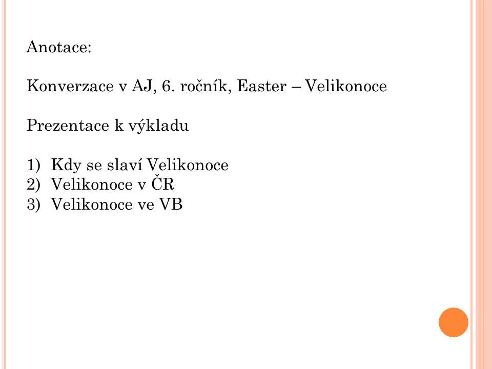Anotace: Konverzace v AJ, 6.