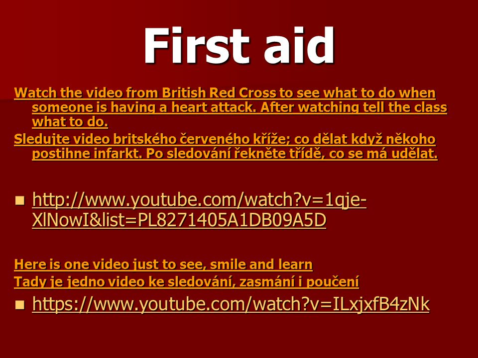 First aid Do you remember what should be in a first aid kit.