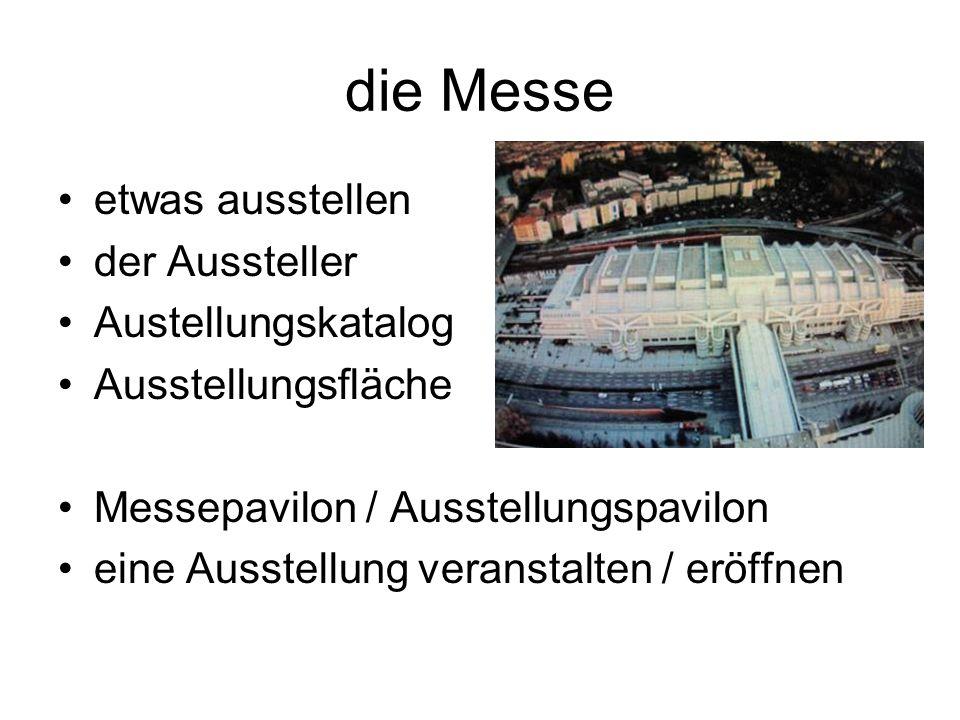 die bekannteste Messestädte in Deutschland: Berlin Hannover Düsseldorf Leipzig Frankfurt Nürnberg München
