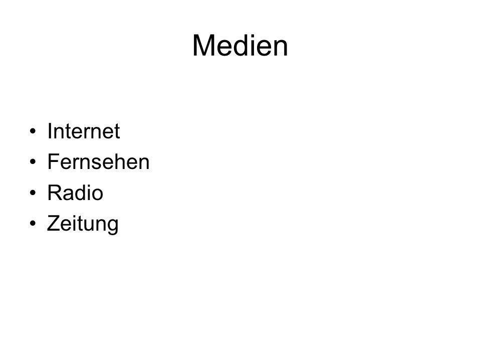 Medien Internet Fernsehen Radio Zeitung