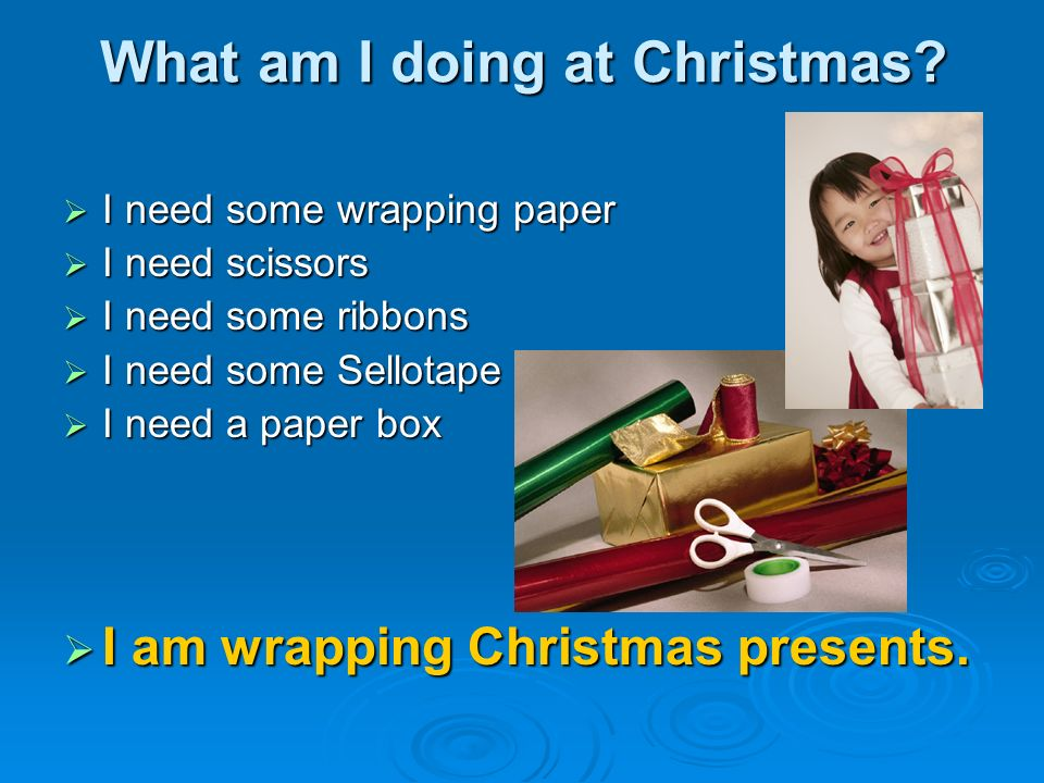 What am I doing at Christmas.