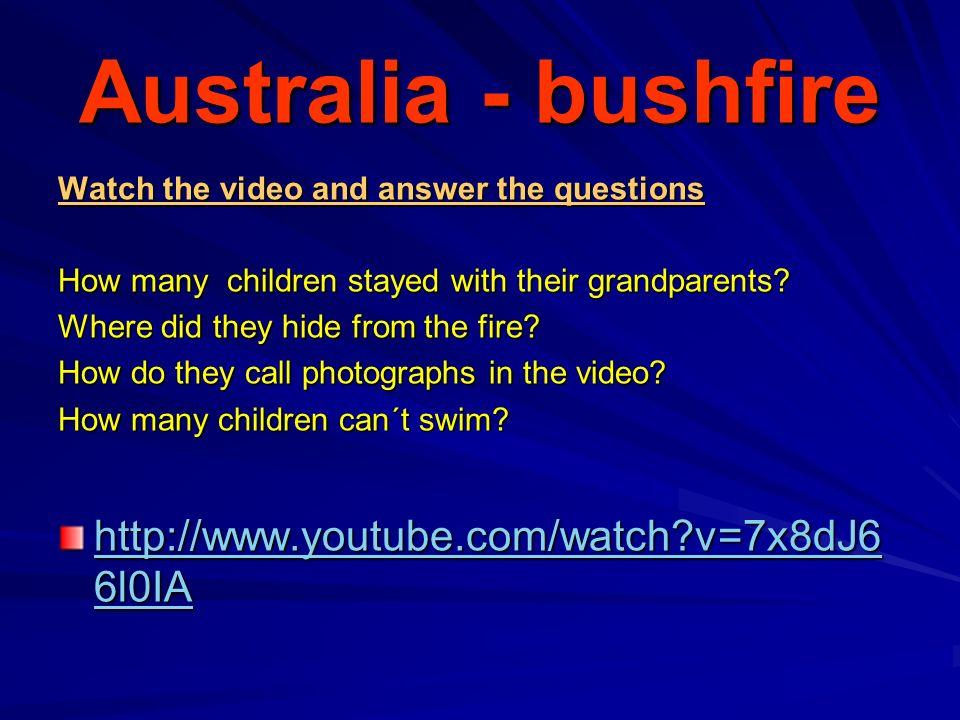 Australia - bushfire Answers - odpovědi How many children stayed with their grandparents.
