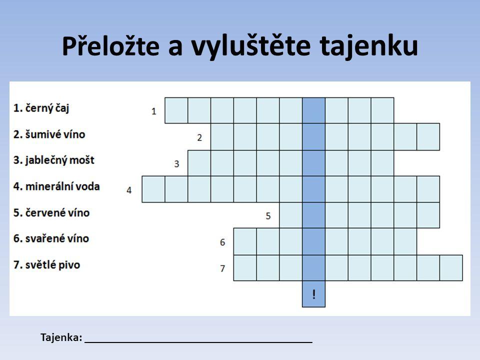 Lösung Tajenka: Zum Wohl!