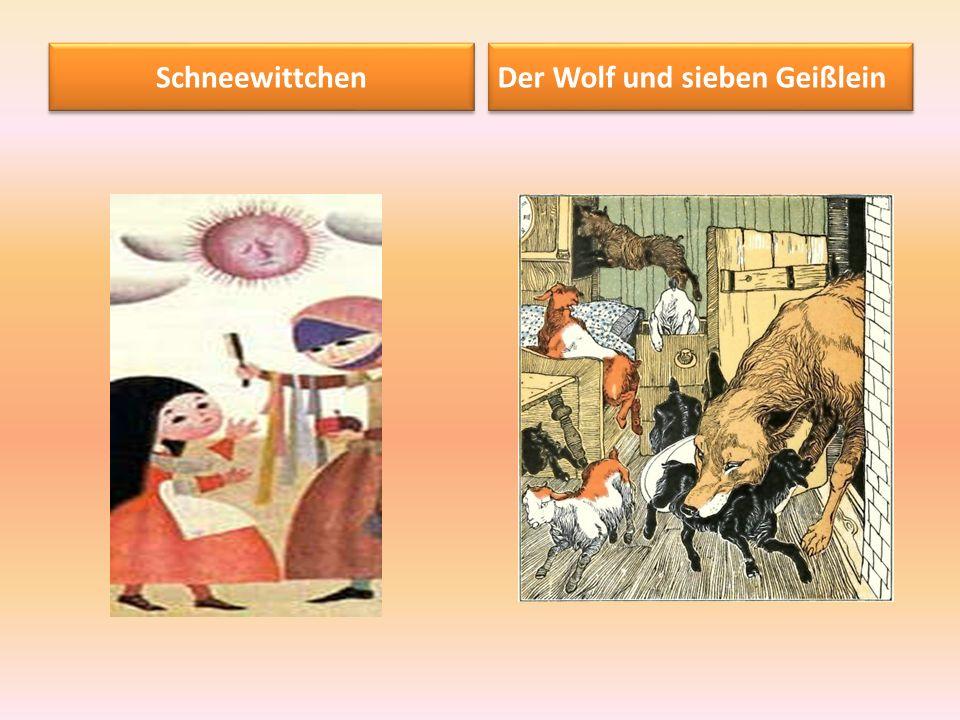 Schneewittchen Der Wolf und sieben Geißlein