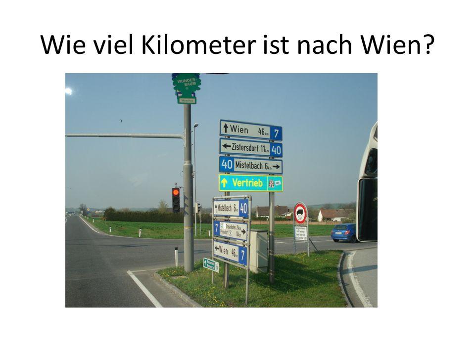 Wie viel Kilometer ist nach Wien