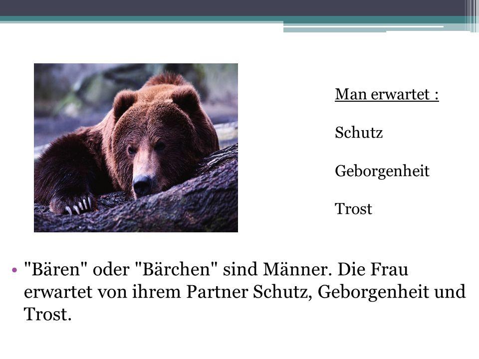 Bären oder Bärchen sind Männer.