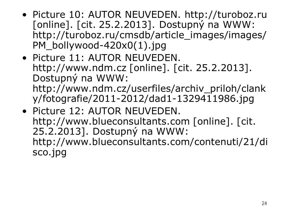 Picture 13: AUTOR NEUVEDEN.http://www.visithluboka.cz [online].