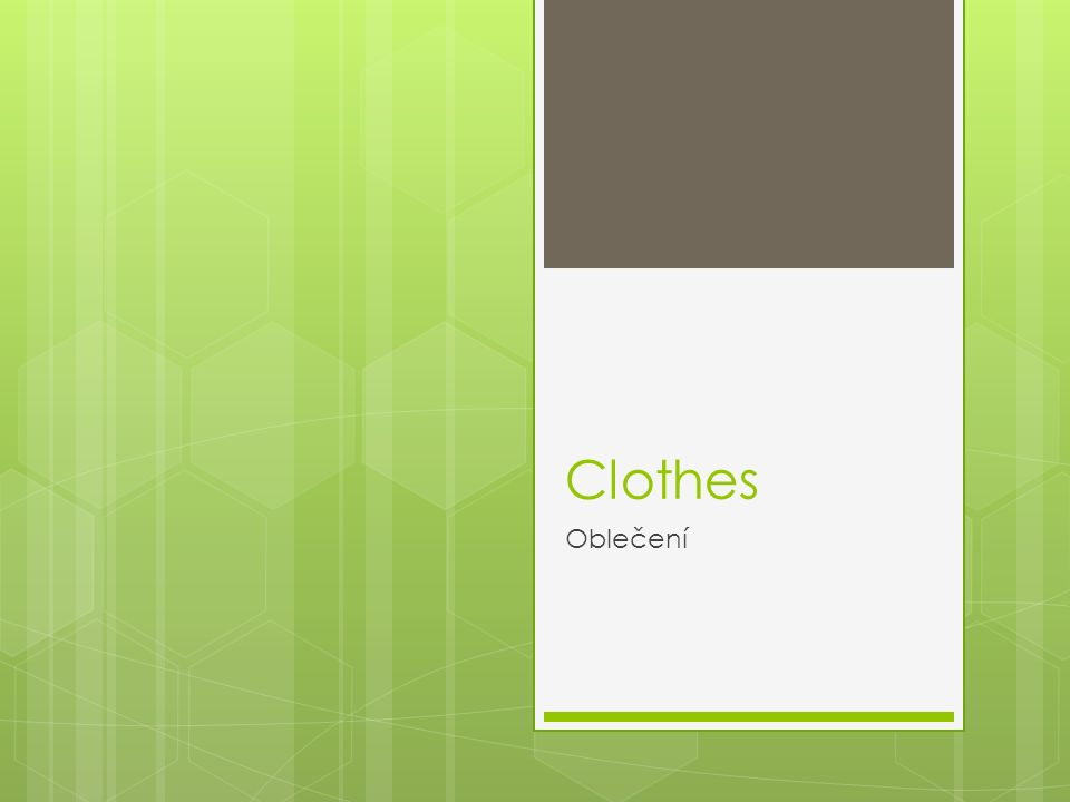 Clothes Oblečení