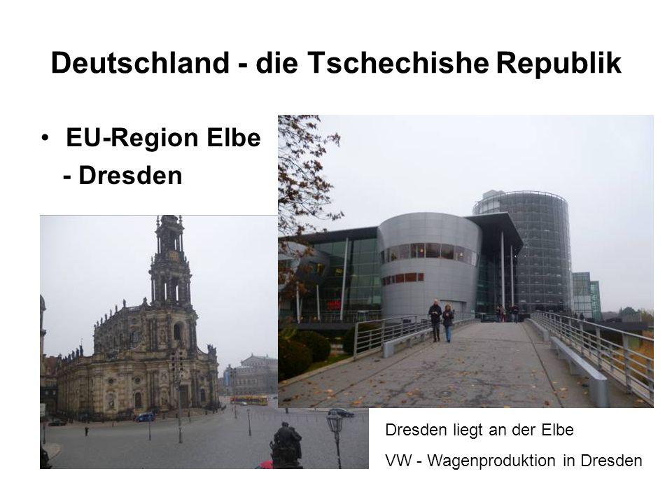 Deutschland - die Tschechishe Republik EU-Region Elbe - Dresden Dresden liegt an der Elbe VW - Wagenproduktion in Dresden