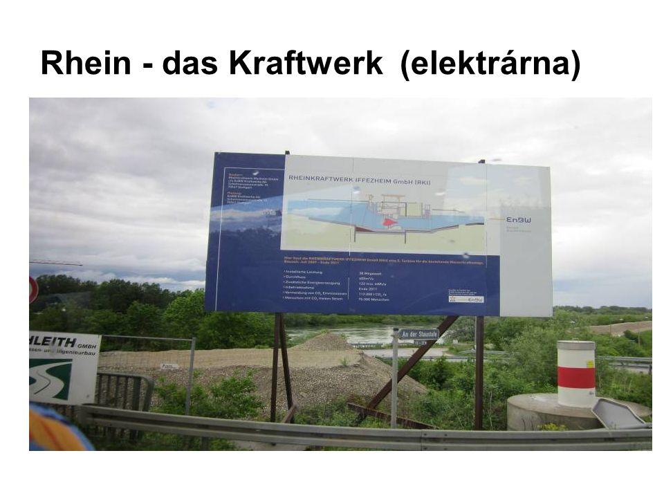 Rhein - das Kraftwerk (elektrárna)