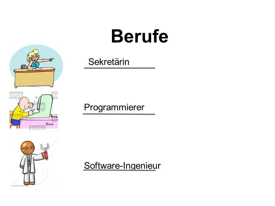 Berufe Sekretärin Programmierer Software-Ingenieur